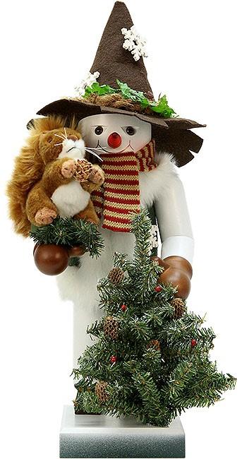 Nussknacker Schneemann mit Eichhörnchen