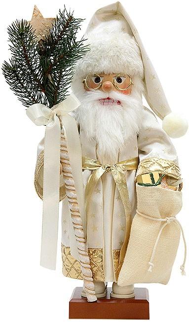 Nussknacker Weihnachtsmann in Gold