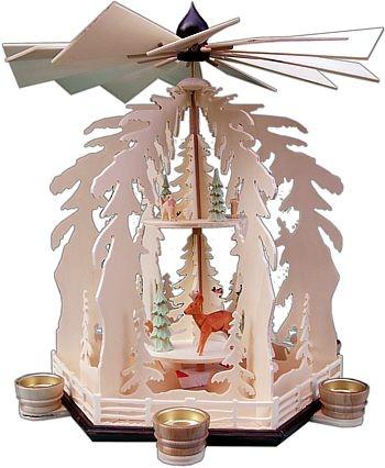 2-stufige Weihnachtspyramide für Teelichter