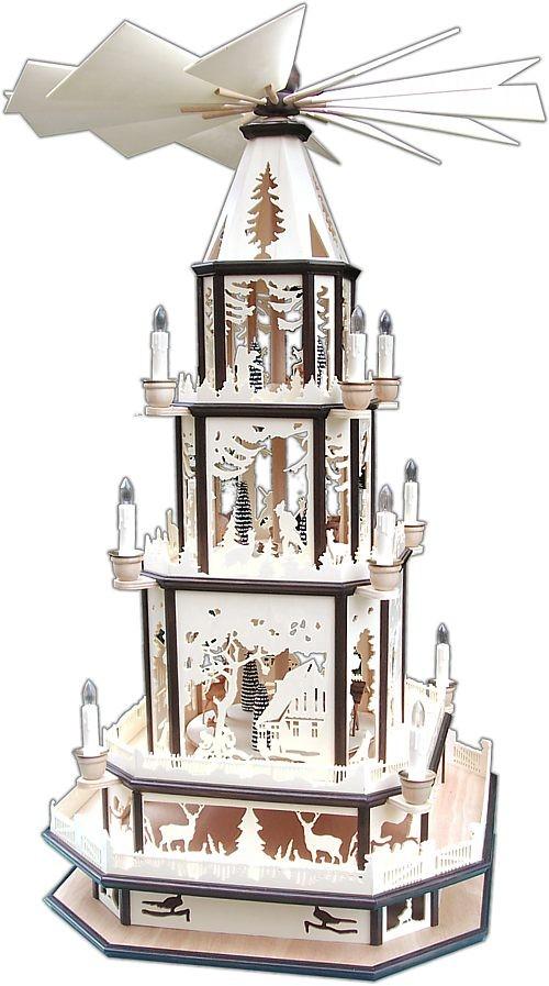 """Weihnachtspyramide """"Am Waldrand"""""""