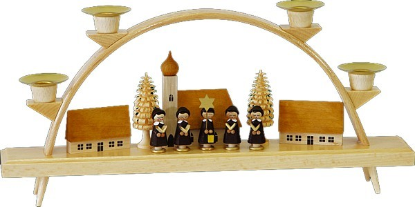 Schwibbogen Kurrende mit Dorf