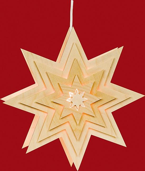 Beleuchtetes Fensterbild Stern