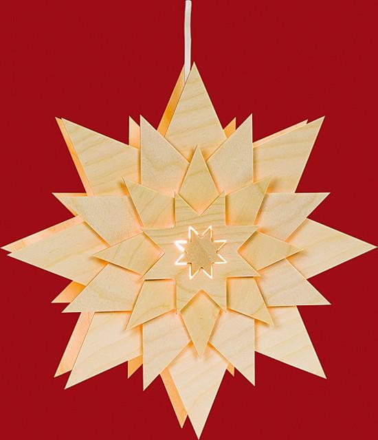 Beleuchtetes Fensterbild Stern (Blume)