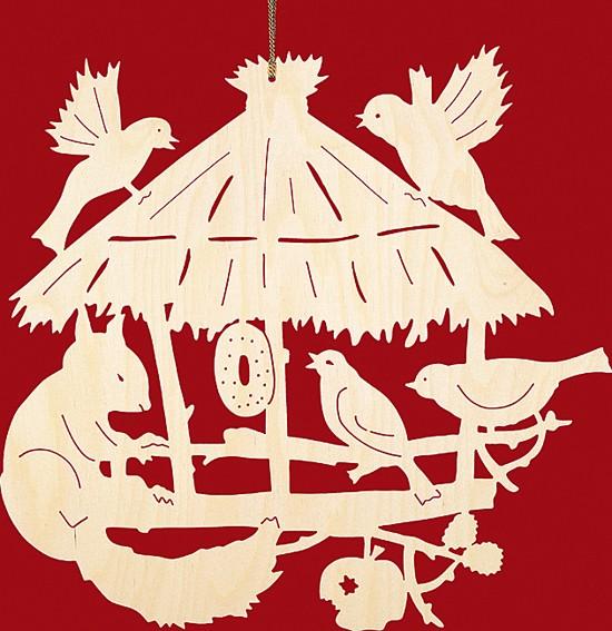 fensterbild weihnachten vogelhaus mit 2 eichh rnchen. Black Bedroom Furniture Sets. Home Design Ideas