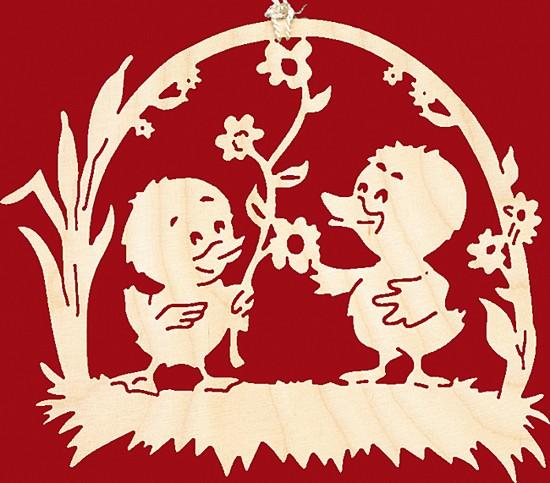 Fensterbild Ostern K�kenpaar