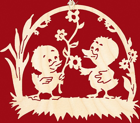Fensterbild Ostern Kükenpaar