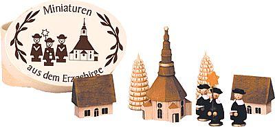 Kurrende mit Seiffener Kirche in Spandose