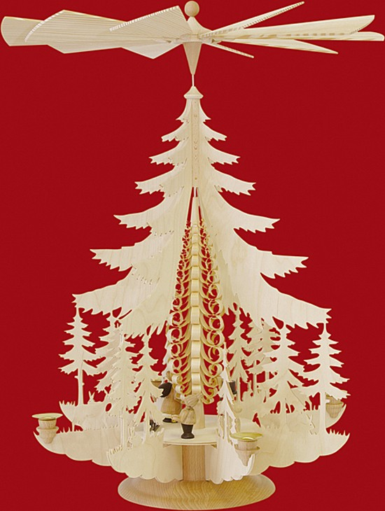 Gro�e Pyramide Weihnachtsfiguren - natur