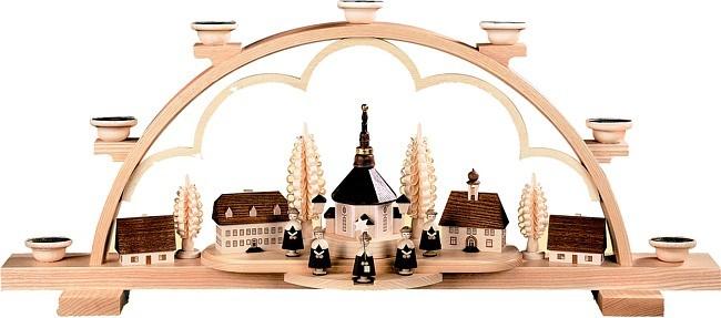 Schwibbogen Seiffener Dorf -gro�-