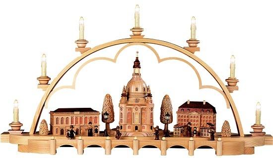 Schwibbogen Alt Dresden -mittelgroß-