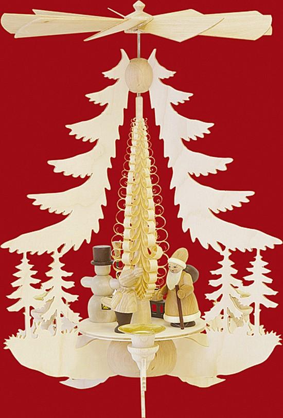 Kleine Pyramide Weihnachtsfiguren - natur