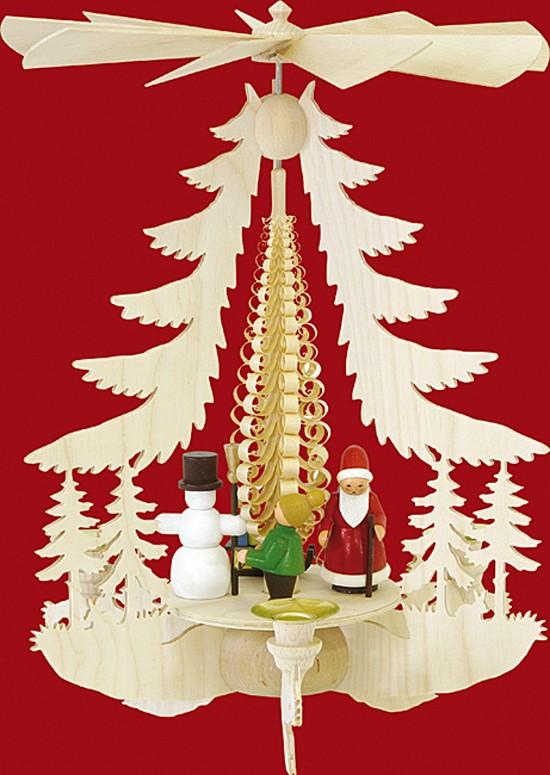Kleine Pyramide Weihnachtsfiguren - bunt