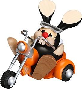 Kugelr�ucherfigur Osterhase im Trike