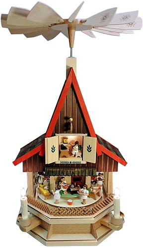 Adventshaus Engelbäckerei, elektrisch beleuchtet