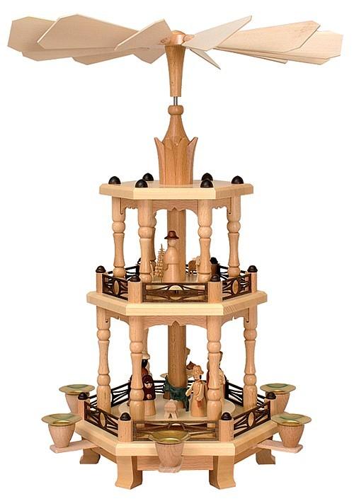 Weihnachtspyramide Geburt 2st�ckig