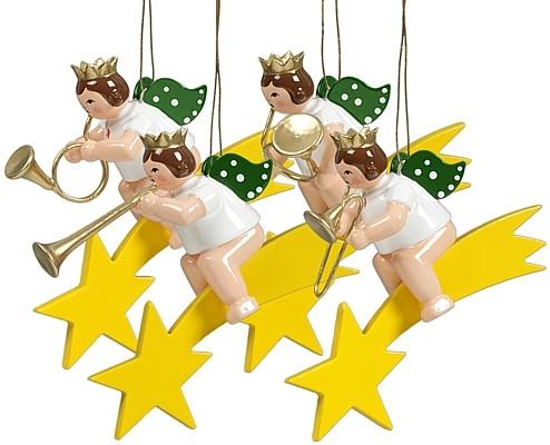 4 Engel auf Sternschnuppe