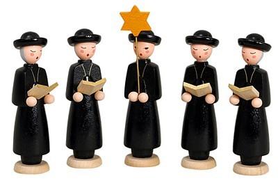 Kurrendefiguren 5teilig mit schwarzem Cape