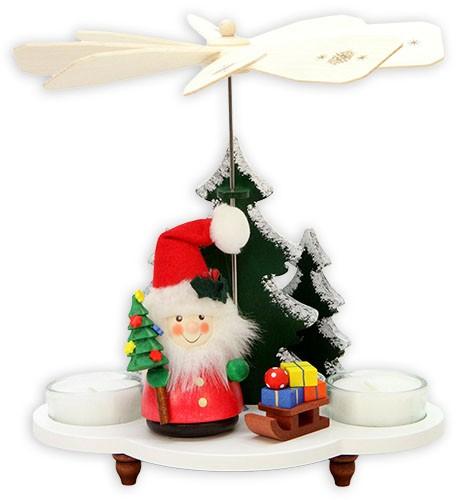 Teelichtpyramide Weihnachtsmann mit Schlitten