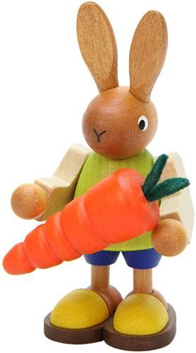 Osterhase mit Karotte, klein