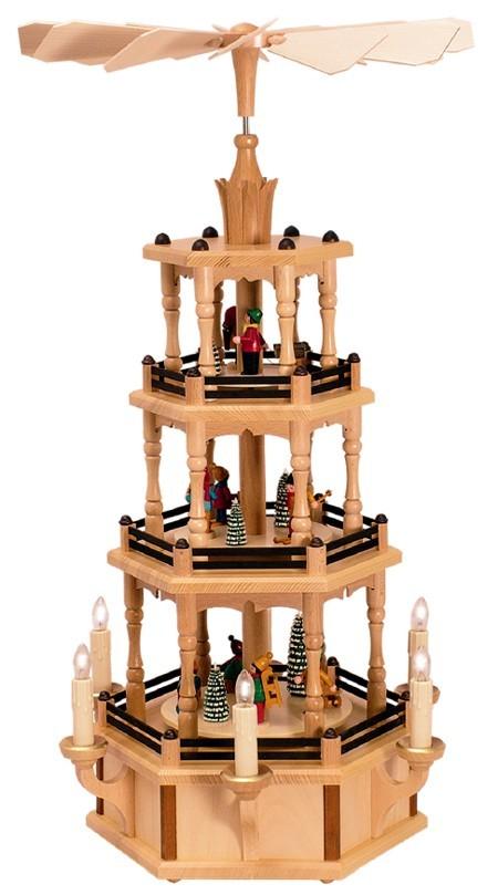 WeihnachtsPyramide Winterkinder 3st�ckig elektrisch