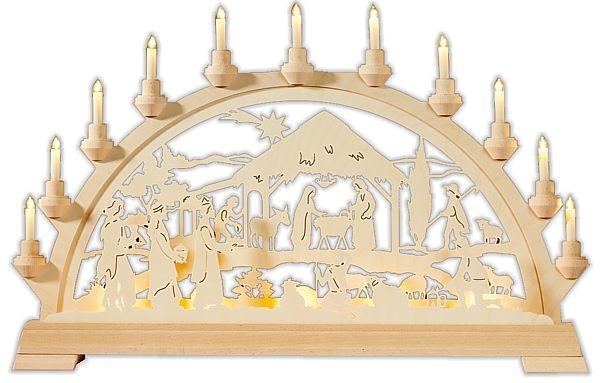 Schwibbogen Christigeburt mit Königen
