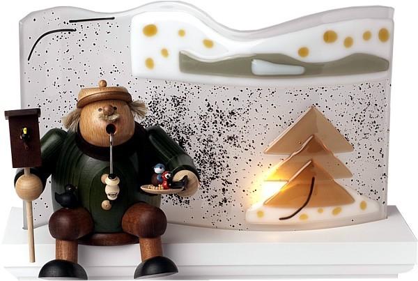 Glas-Paravent -braune Tanne- für Kantenhocker<br>-Neuheit 2011-