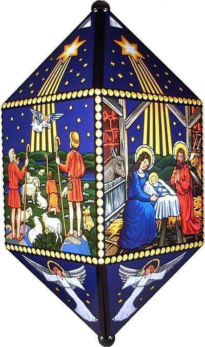 Laterne Motiv: Christi Geburt