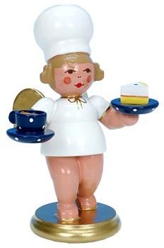 B�ckerengel mit Tasse und Kuchen
