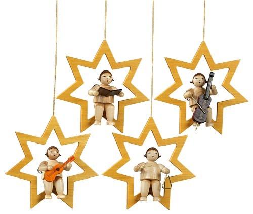 4 Engel im Stern natur