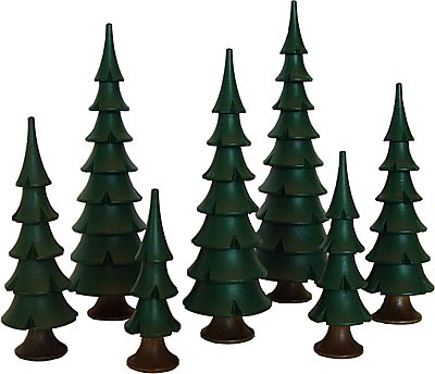 Baumgruppe grün, 7-teilig