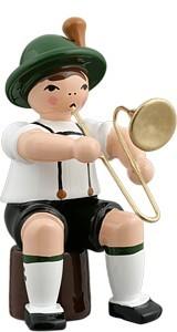 Bayernmusikant mit Posaune