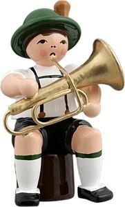 Bayernmusikant mit Tuba