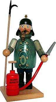 R�uchermann Feuerwehrmann mit Schlauch