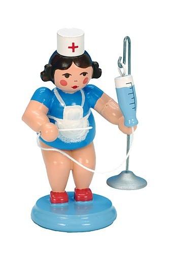Krankenschwester mit Tropf