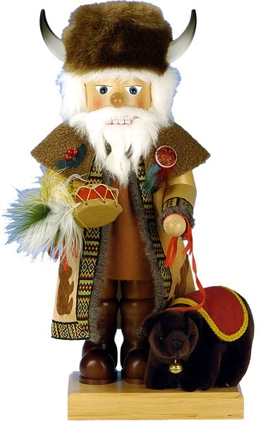 Nussknacker Büffel Santa
