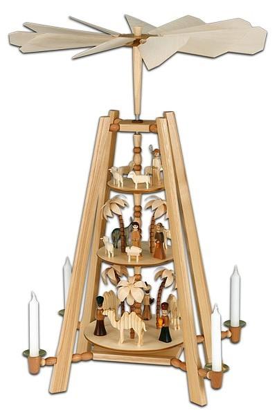 Weihnachtspyramide 3-stöckig