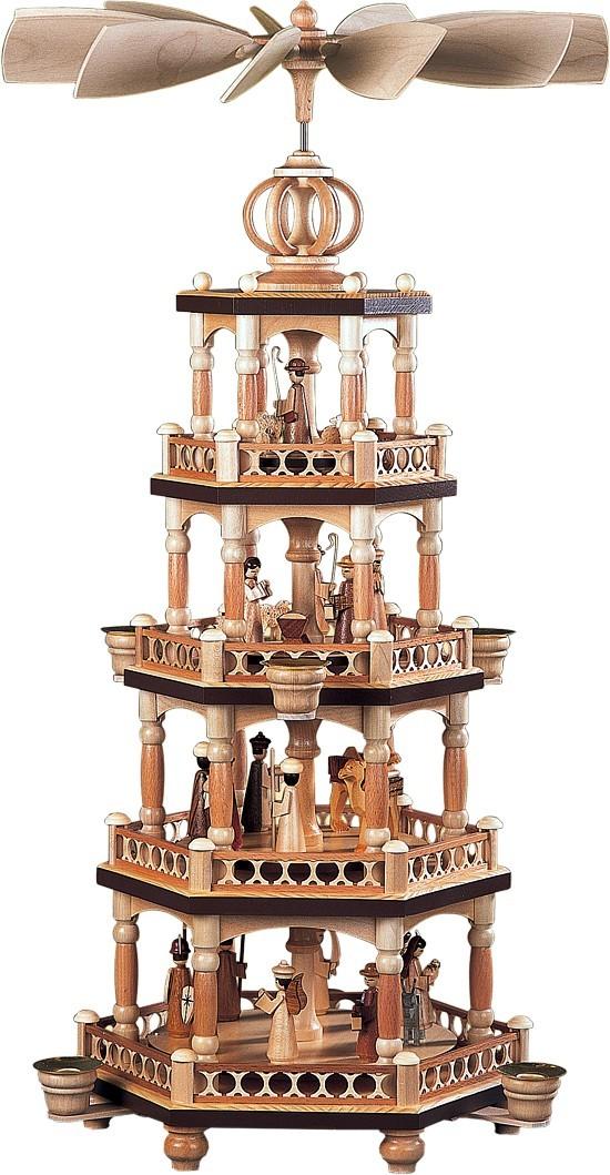 Pyramide heilige Geschichte mit S�ulendesign 4-st�ckig Natur