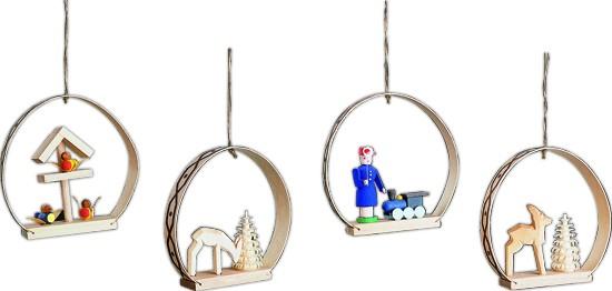 Baumbehang Ornamente 4-teilig