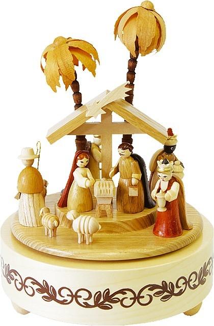 Spieldose Christi Geburt, natur