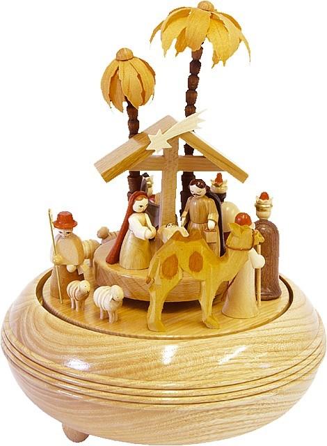 Spieldose Christi Geburt natur, 28er Spielwerk