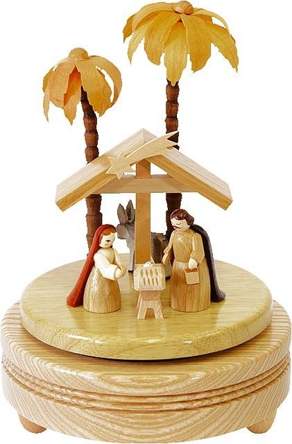 Spieldose Christi Geburt hell