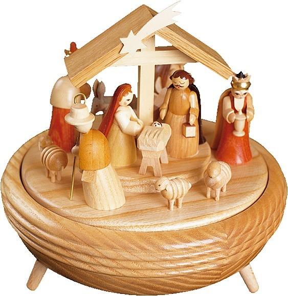 Spieldose Christi Geburt, 18er Spielwerk Stille Nacht