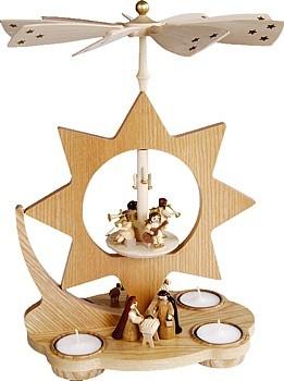 Teelichtpyramide Stern, Christi Geburt