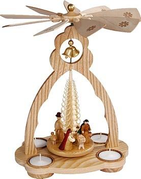 Glockenpyramide f�r Teelichte, Christi Geburt