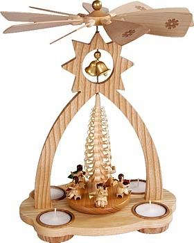 Glockenpyramide f�r Teelichte, Engel
