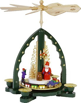 Weihnachtspyramide Weihnachtsmann, gr�n