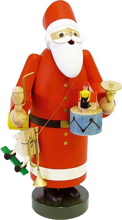 R�uchermann Weihnachtsmann mit Spielzeug