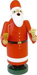 Räuchermann Weihnachtsmann mit Glocke