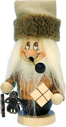 R�ucherm�nnchen Miniwichtel Weihnachtsmann mit P�ckchen