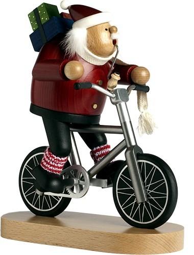 Räuchermännchen Weihnachtsmann Radfahrer